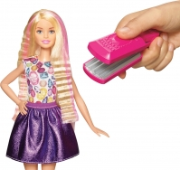 Barbie colorful crimps  curls nukke